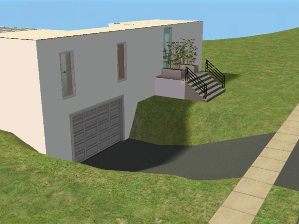 Mod the sims modern starter house 2x2 with underground for Classic underground house