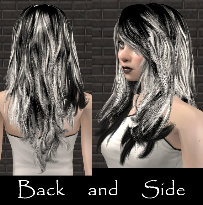 Mod The Sims - Gothic hairstyle for females  6 recolors of Flora's