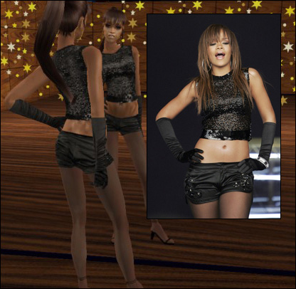 "The Barbados-born Rihanna held her own (or should I say, the dress held her) Mod The Sims - 2 Rihanna&squot;s outfits from her ""SOS"" video"