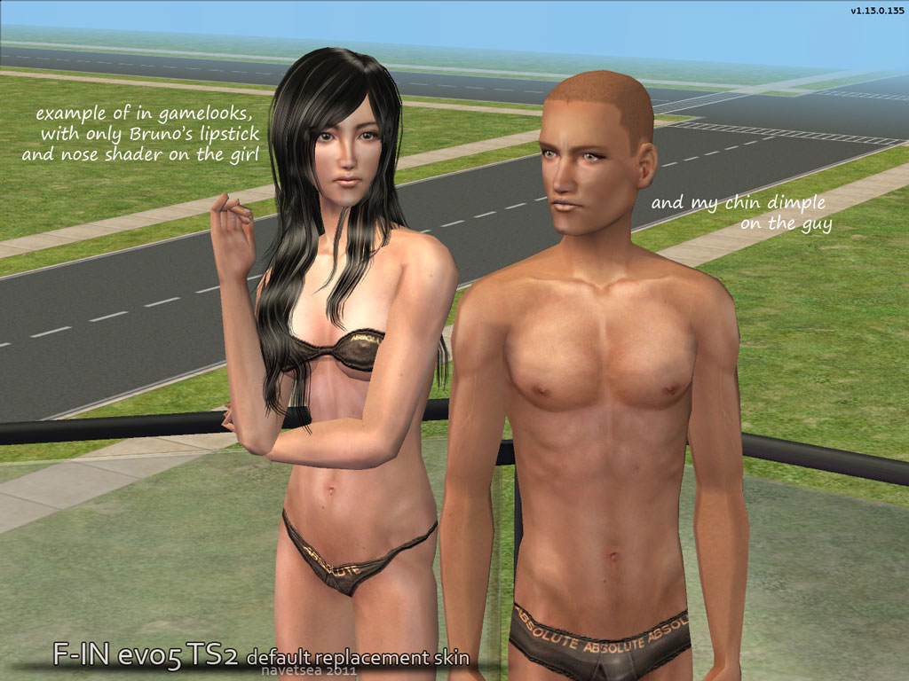 Default nude sims skin