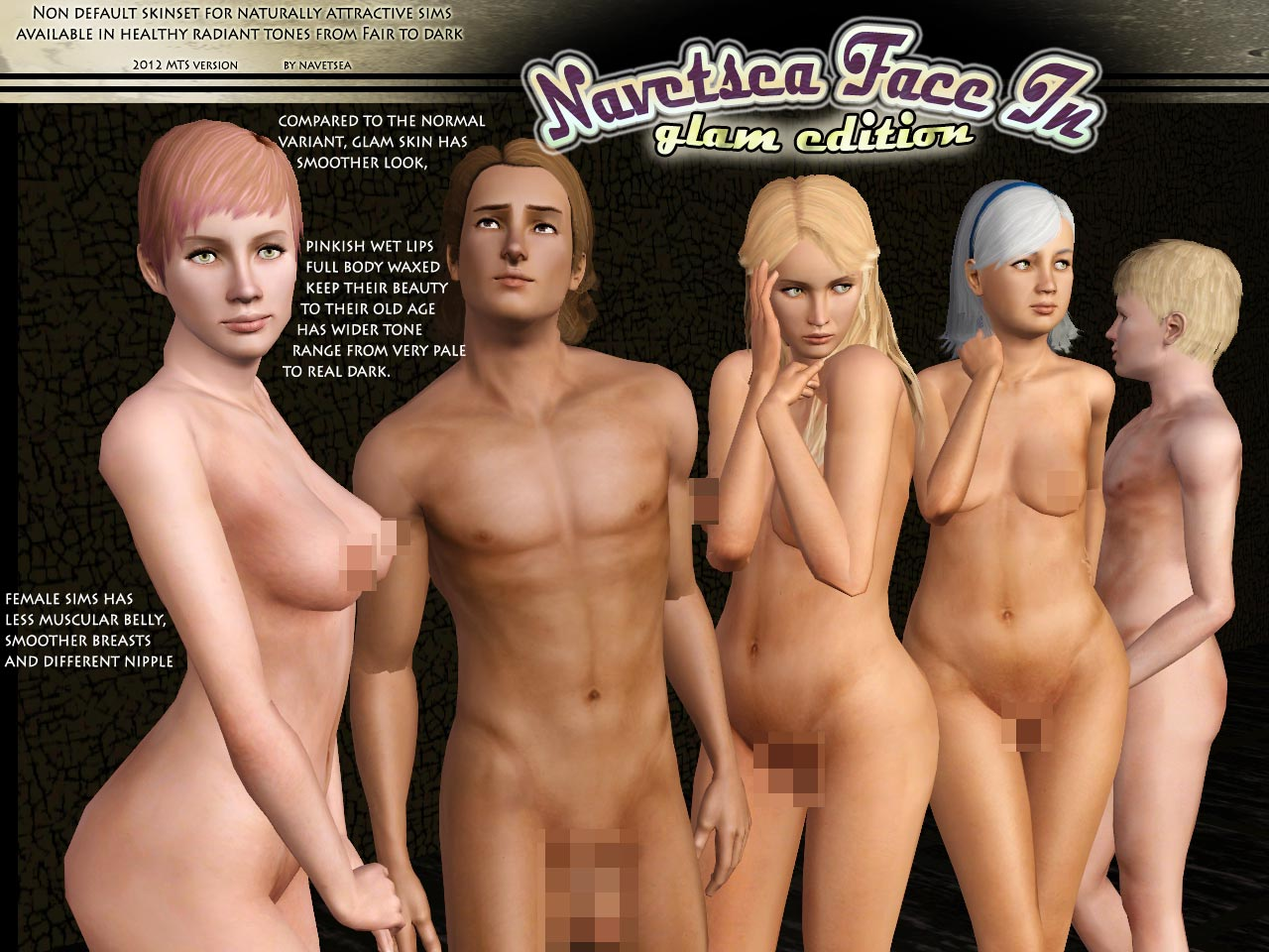 Sims 3 sexy body nude anime comic