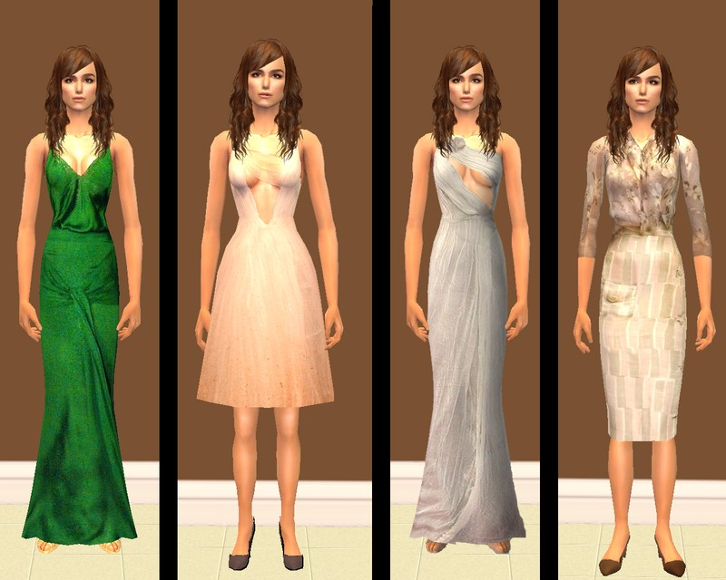 Mod The Sims - Keira Knightley - Atonement dresses