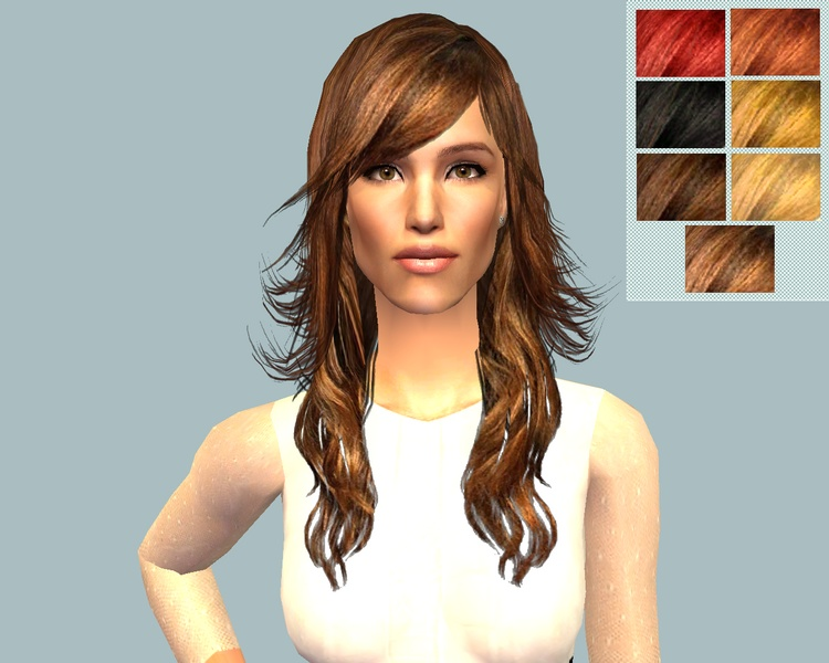Another version of a Jennifer Garner hairstyle based on the mesh of XMSims