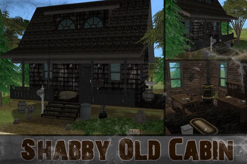Mod The Sims Shabby Old Cabin Run Down Haunted Cabin