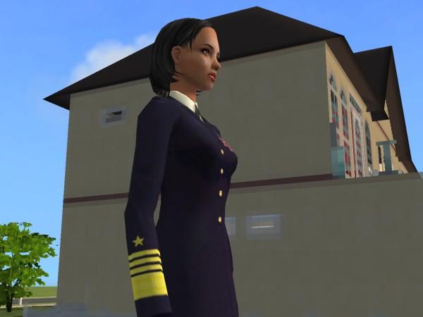 Female service dress blues navy