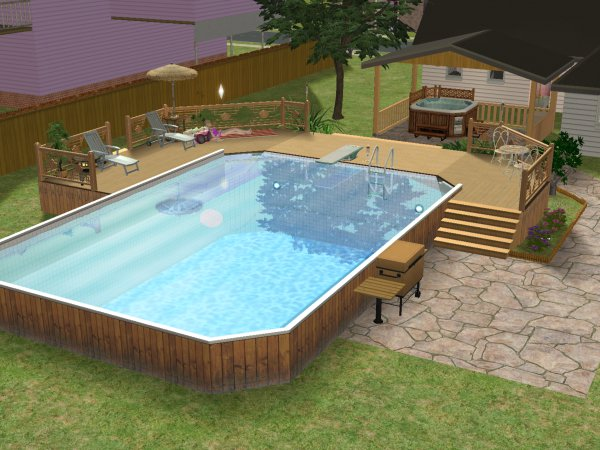 Mod the sims how to make an above ground pool for Pool designs sims 4