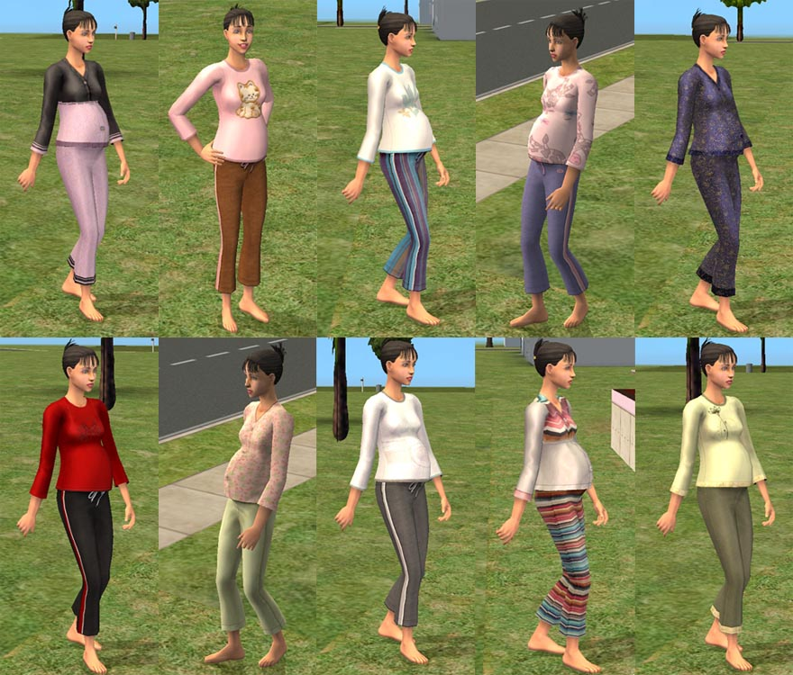 Mod The Sims - Pregnancy wear