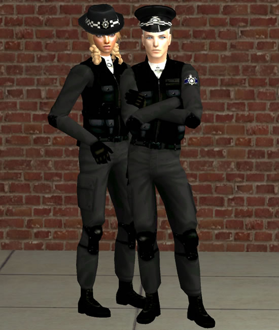 finding anything, I decided to make these UK general police uniforms!