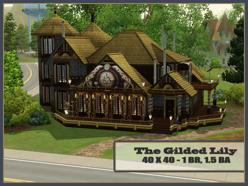 Mod The Sims The Gilded Lily A Steampunk Cottage