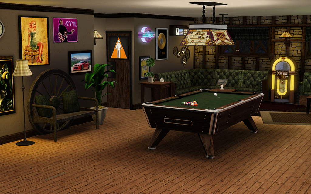 Mod The Sims Fiddlers Green No CC Or Store Content - The pool table store