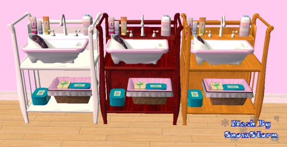 Mod The Sims Testers Wanted Sleigh Style Baby Bath