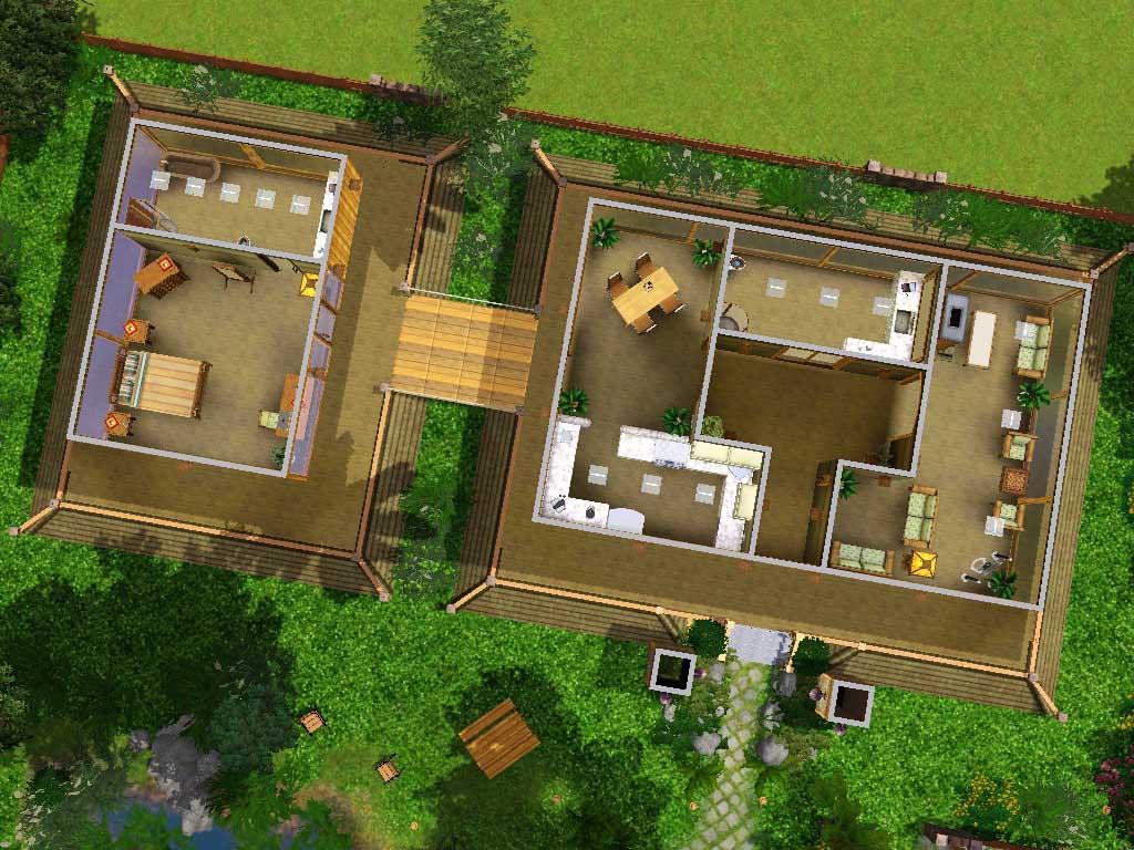 Mod the sims kodwang thai house for Thai home designs