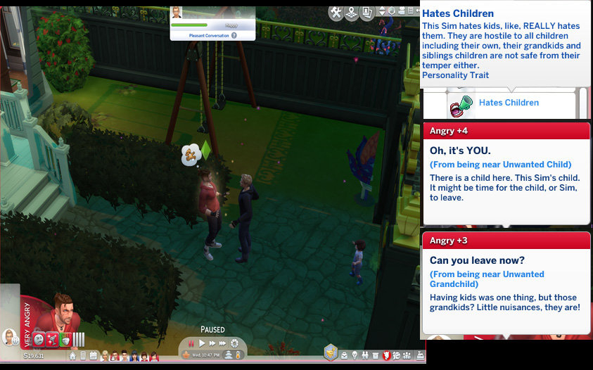 Mod The Sims - Hates Children Overhaul (WIP)