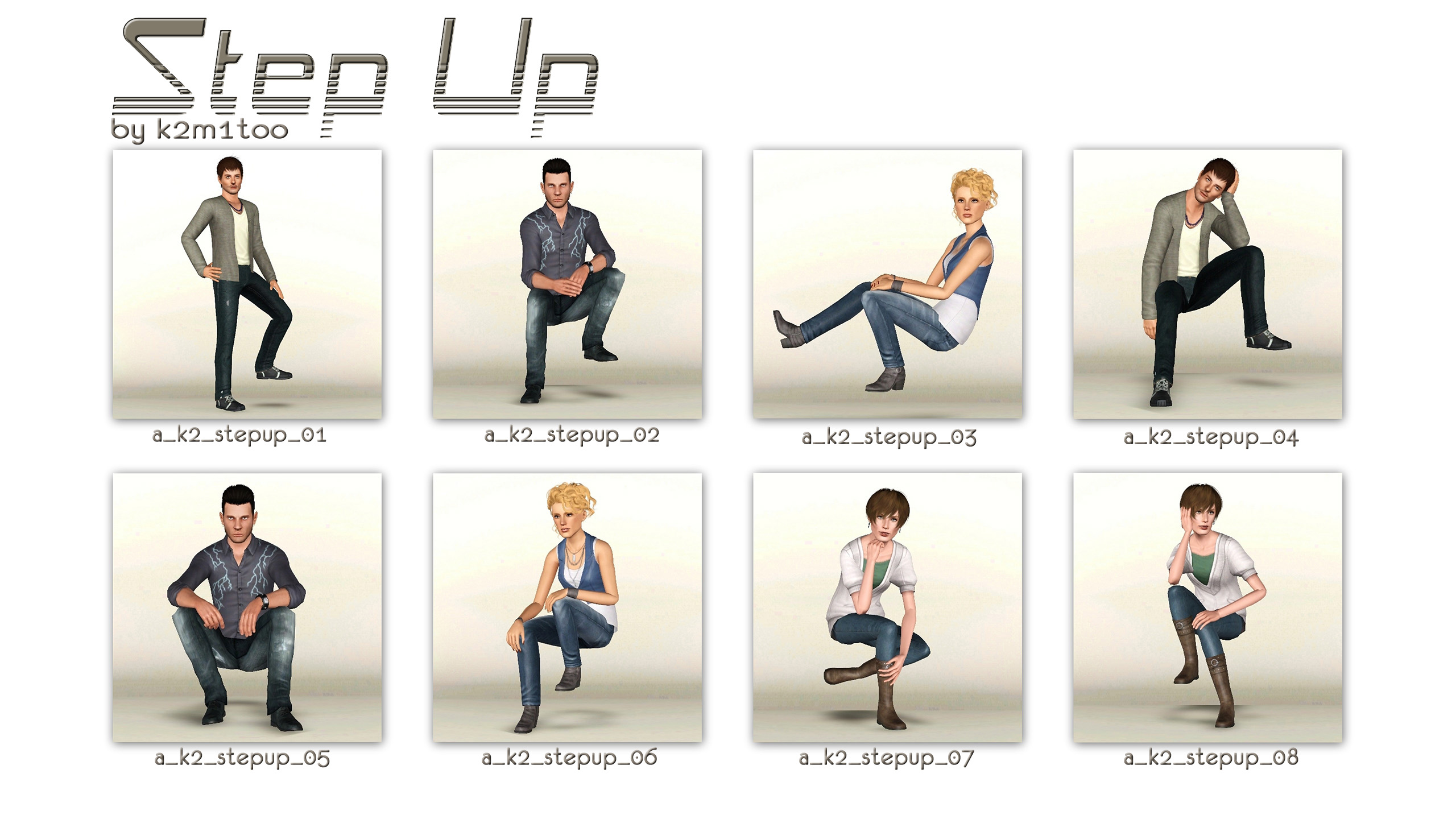 Mod The Sims Step Up Poses For Stairs