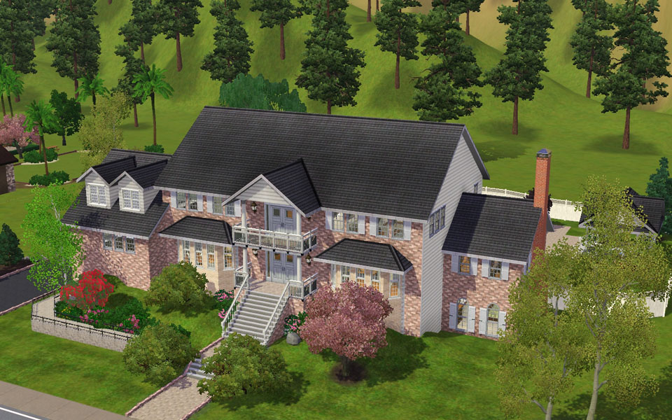 Mod the sims magnificent brick large family home for Large family home