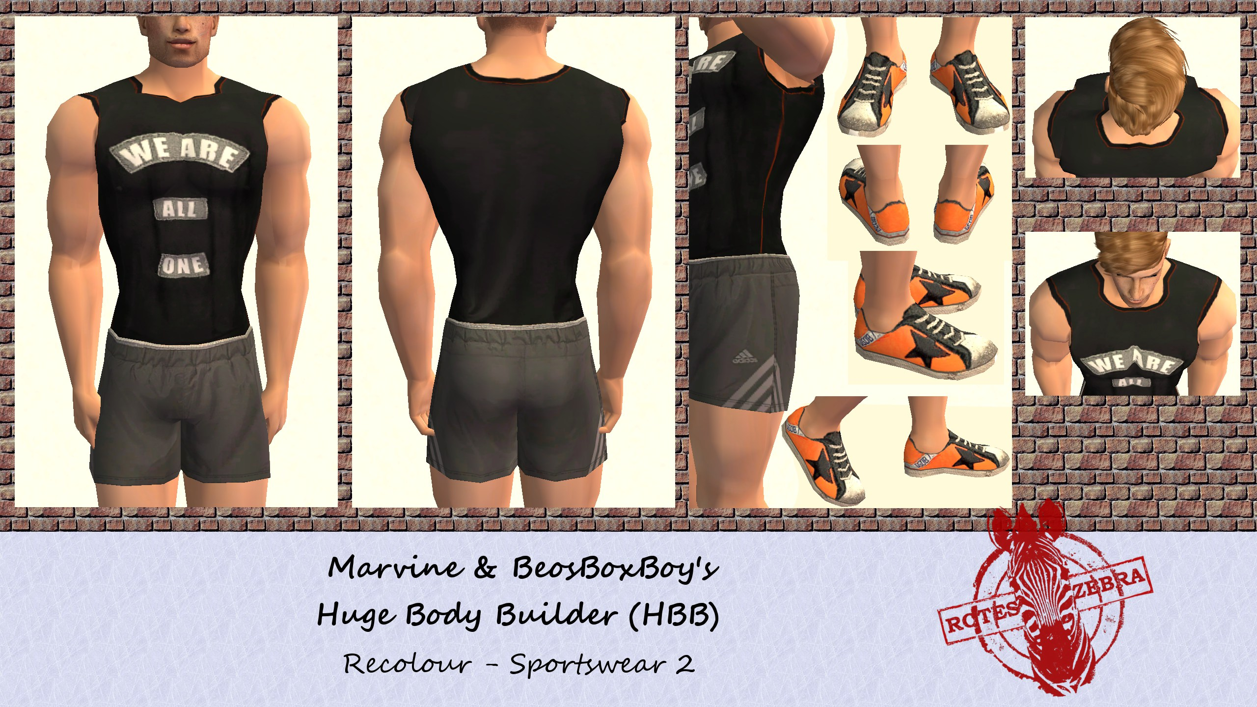mod the sims huge body builder hbb new athletic