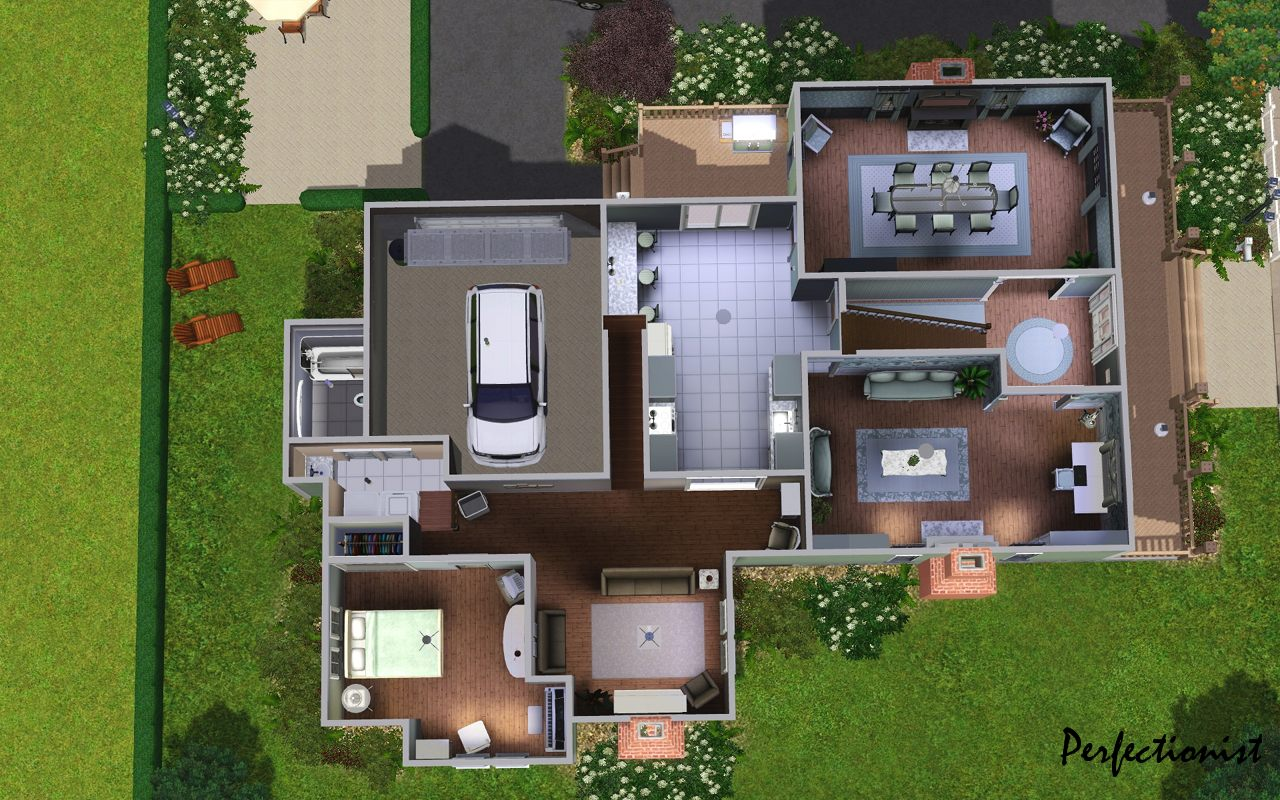 MTS Perfectionist 1227828 FirstFloor - 18+ Small House Floor Plans Sims 4 Background