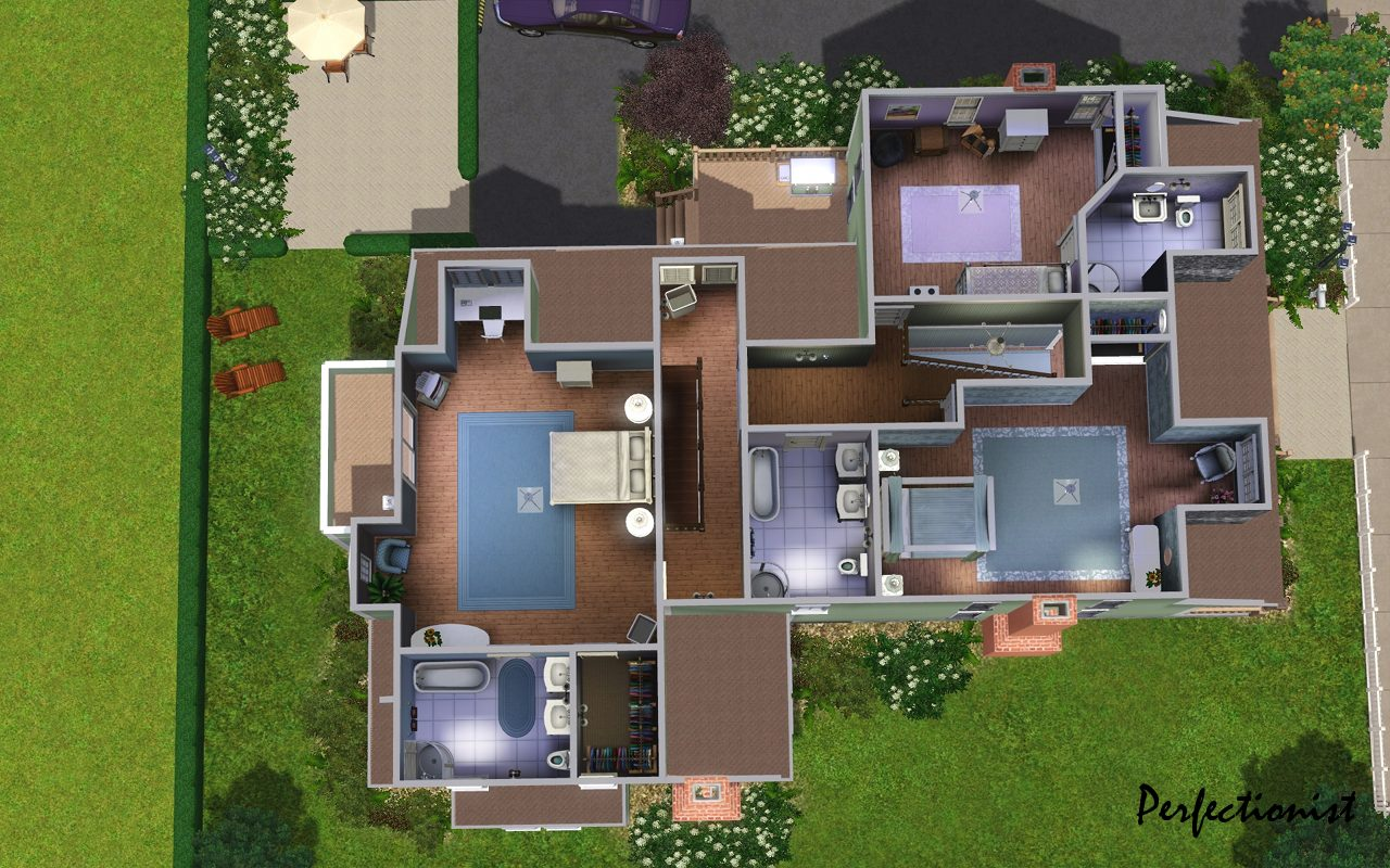 Mod the sims the emerald house no cc for Mansion floor plans sims 4
