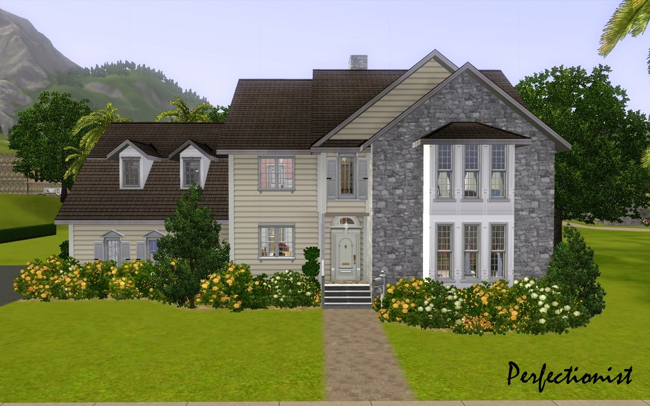 Mod the sims 39 5 bedroom colonial style house 39 ts3 remake for 6 bed house
