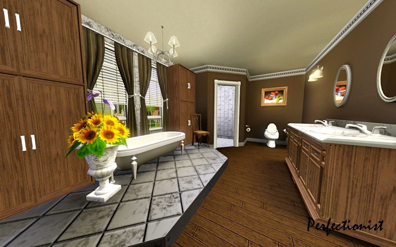 Master Bathroom Names mod the sims - '5 bedroom colonial style house' (ts3 remake)