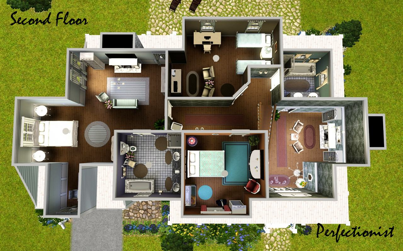 Mod the sims 39 lavender laurels 39 no cc for Sims 3 6 bedroom house