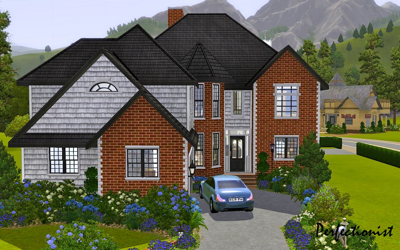 Mod the sims 39 5 bedroom european style house 39 ts3 for 5 bedroom homes