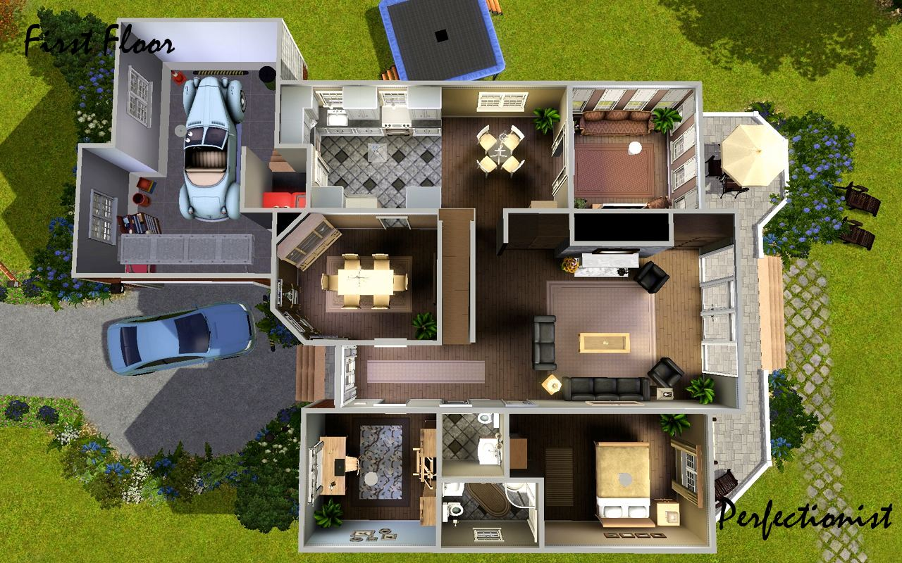 Mod the sims 39 5 bedroom european style house 39 ts3 for Europe style house