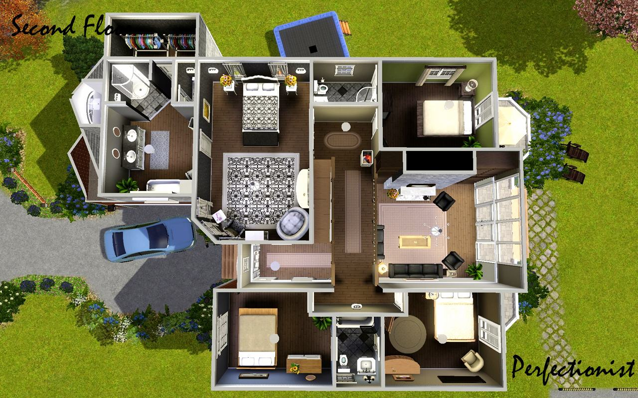 Mod the sims 39 5 bedroom european style house 39 ts3 for Mansion floor plans sims 4