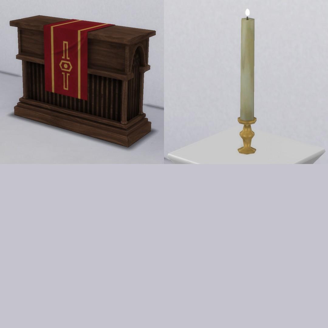 Wedding Altar Sims: Jacoban Altar & Candle