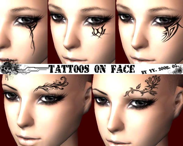 Mod The Sims - Tattoo on face