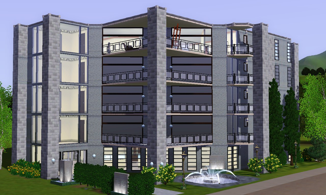 Mod the sims modern lux apartment for Appartement design sims 3