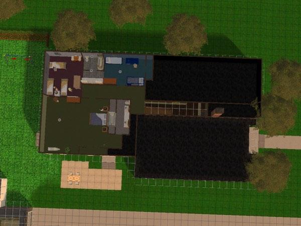 mod the sims - brady bunch tv house