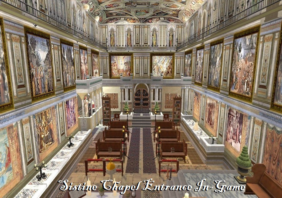 Interior wall texture - Mod The Sims The Ucs Part 7 The Sistine Chapel Community Lot