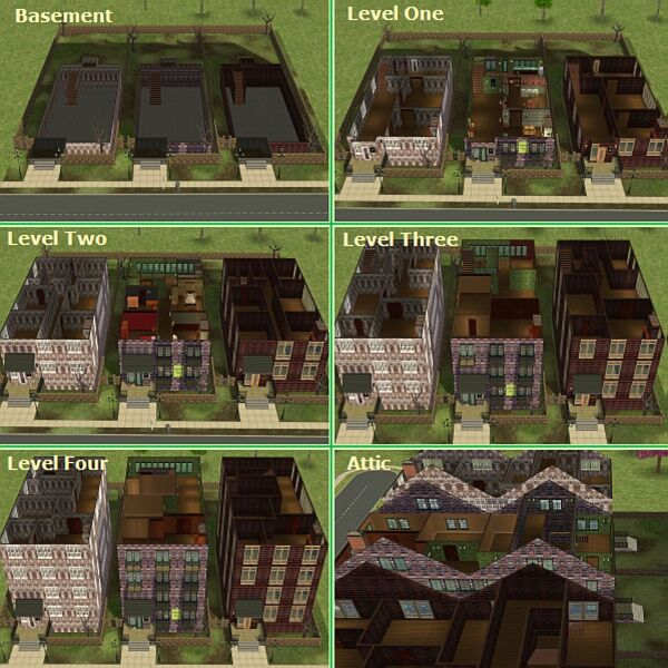 Mod the sims harry potter collection grimmauld place for 12 grimmauld place floor plan