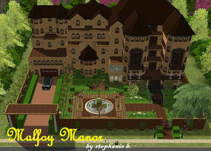 Mod The Sims Harry Potter Collection Malfoy Manor