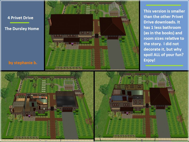 Mod The Sims Harry Potter Collection 4 Privet Drive