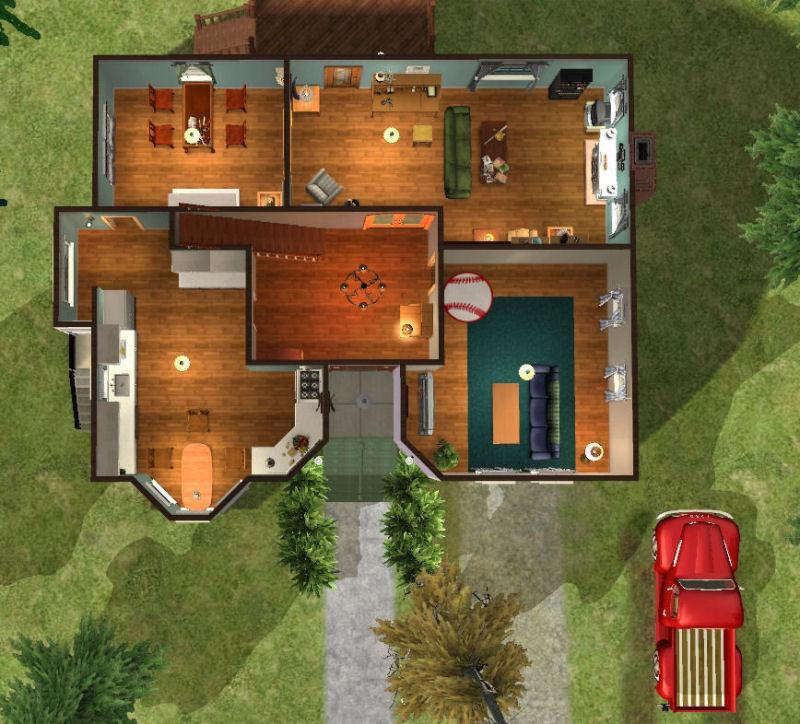 Mod the sims twilight bella swan 39 s house for Twilight house floor plan