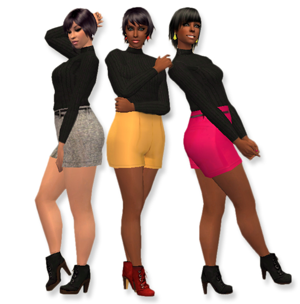 Sims 3 High Waisted Shorts Chic Shorts High Waisted