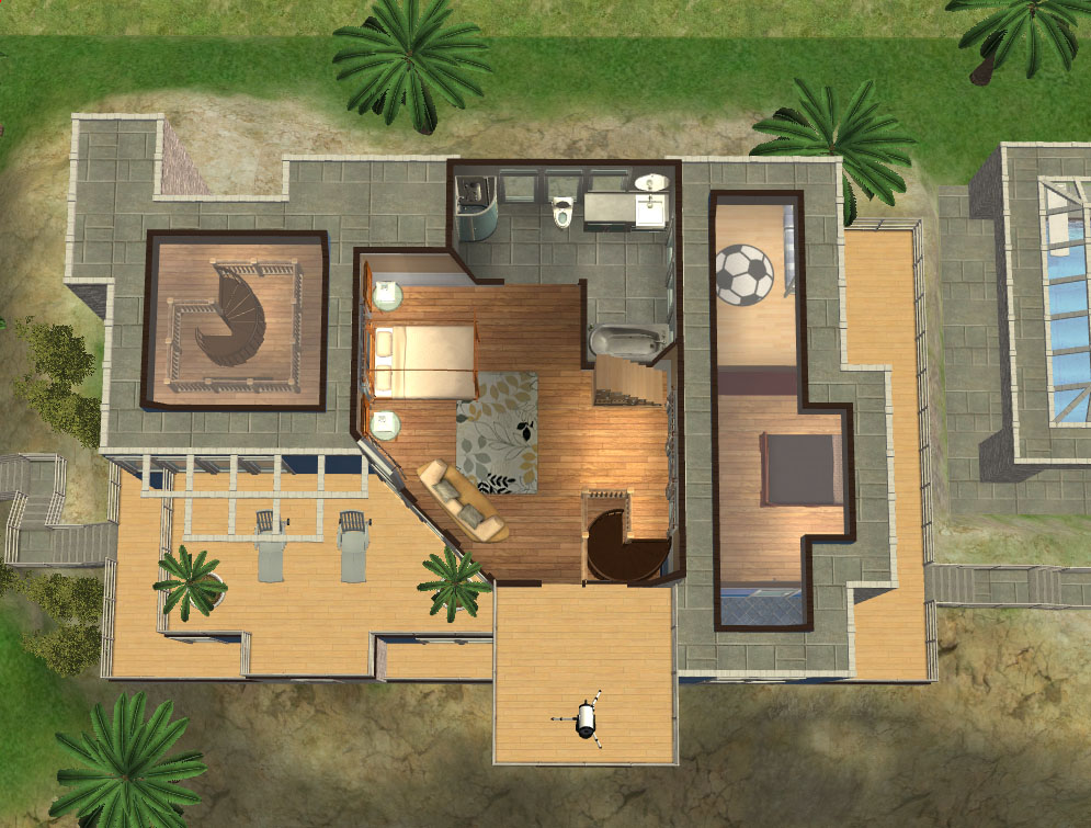 Spanish house layout