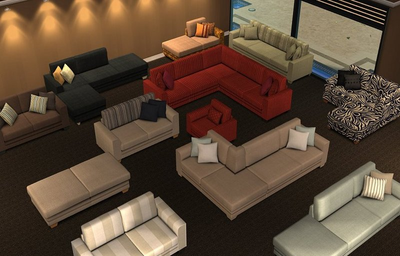 Mod the sims annie modular sofa updated 22 nov 2007 for Sims 3 sectional sofa download