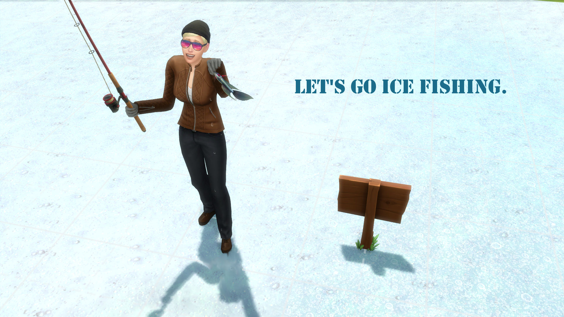Mod the sims member snowhaze for Go ice fish