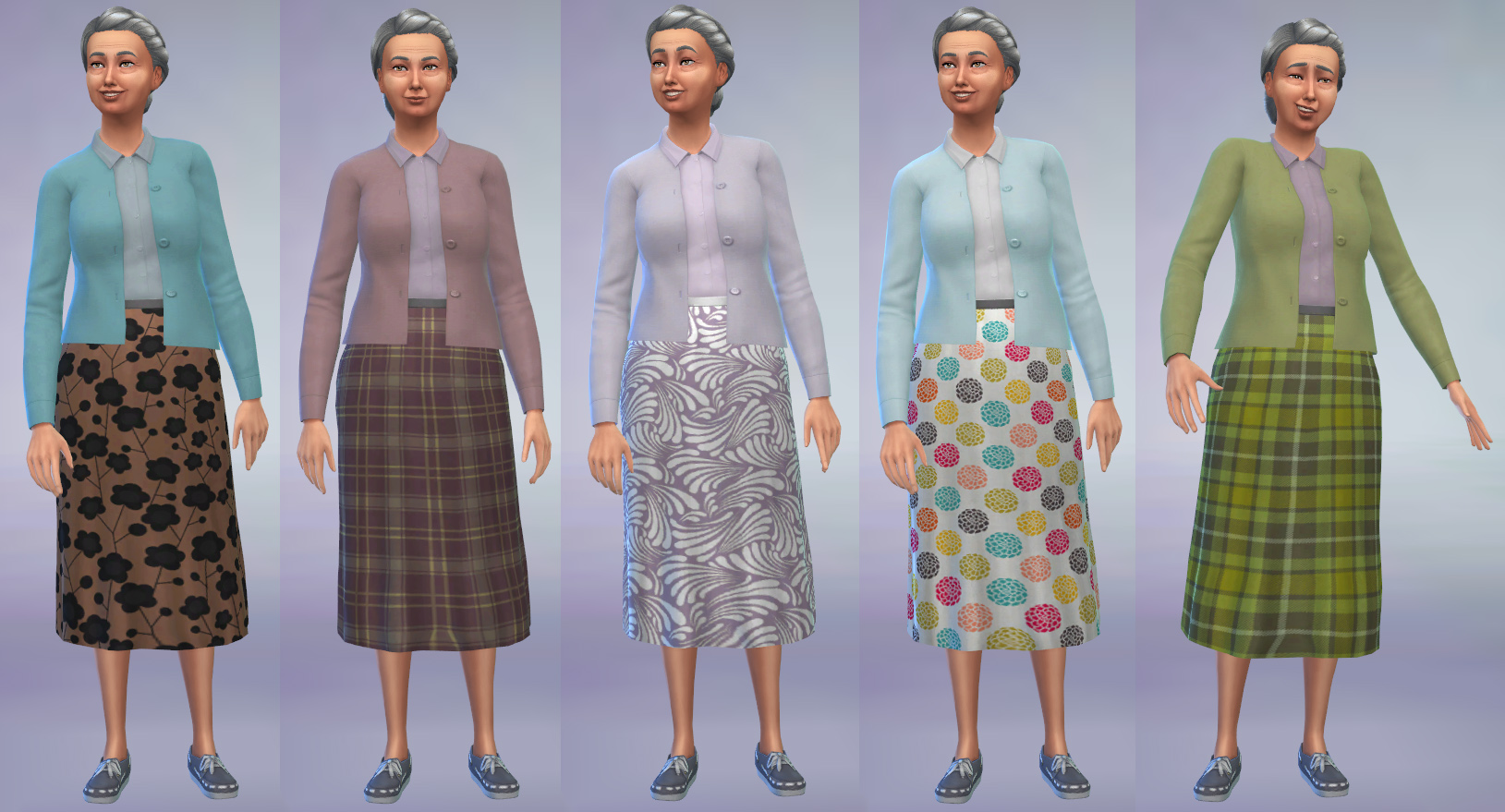 Mod the sims grandma cardigan and skirt outfit super for Grandmother dresses for grandson s wedding