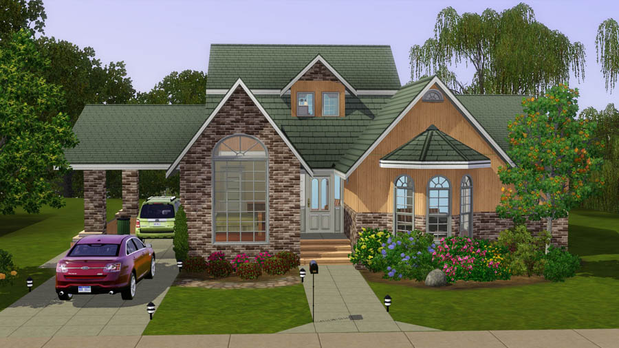 Mod the sims suburban life the aspen for Classic house sims 3