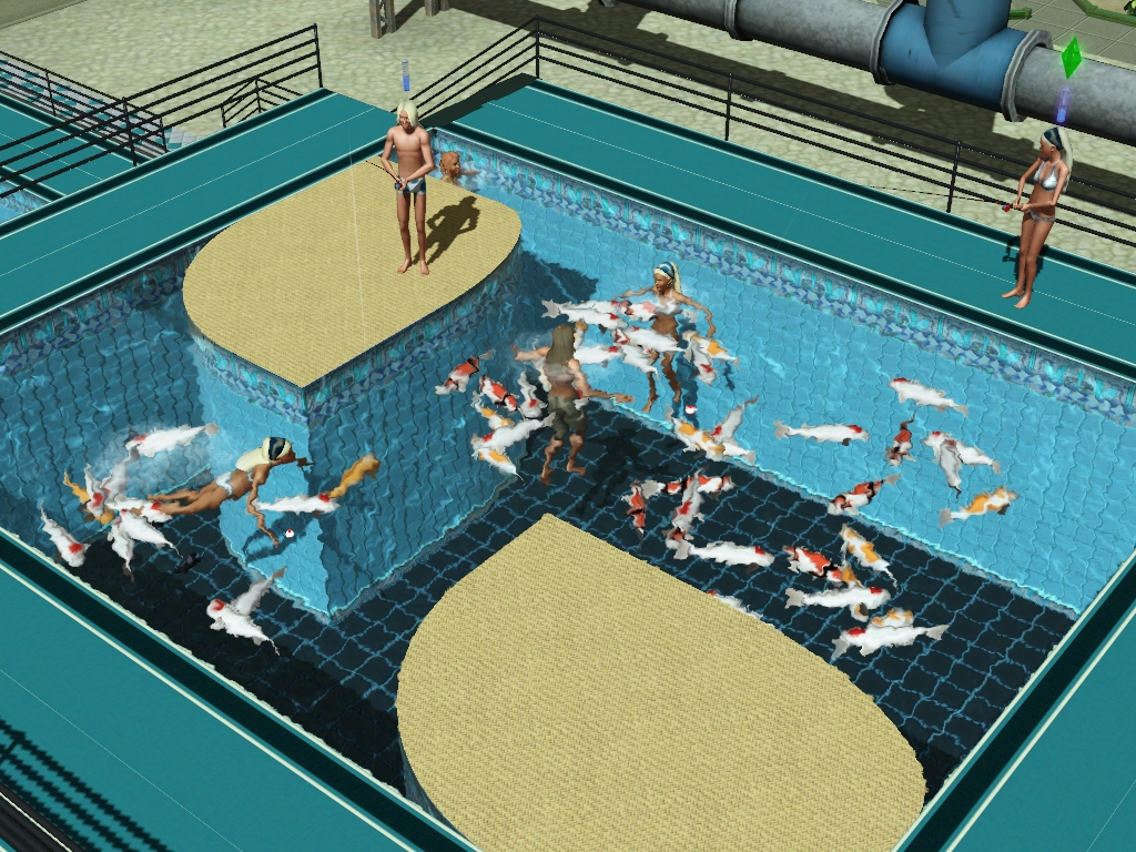 Mod the sims update 23 sep 2014 fish in pools fountains for Pool design sims 3