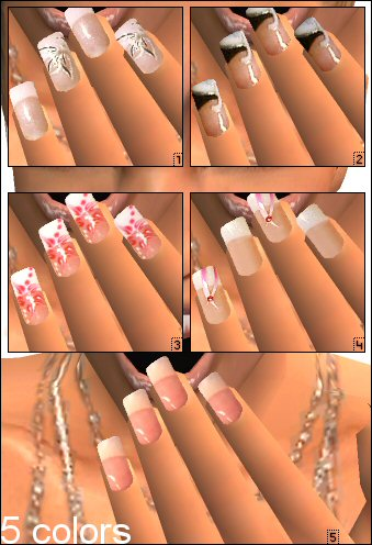 Black And White Nail Designs Pictures. Simple and Elegant Nail Arts