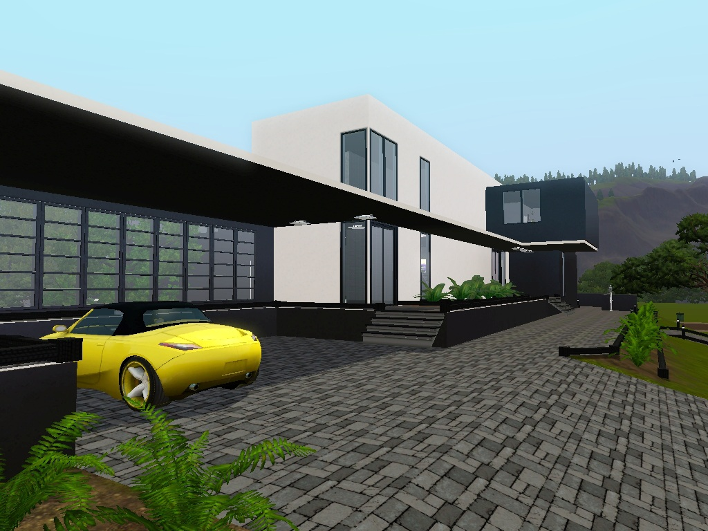 Mod The Sims Contemporary Au Courant Large Modern House