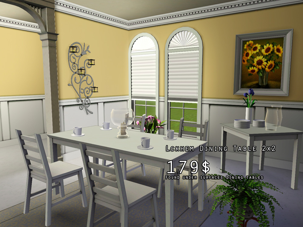 Mod the sims lyckhem kaustby dining set for Sims 3 dining room ideas
