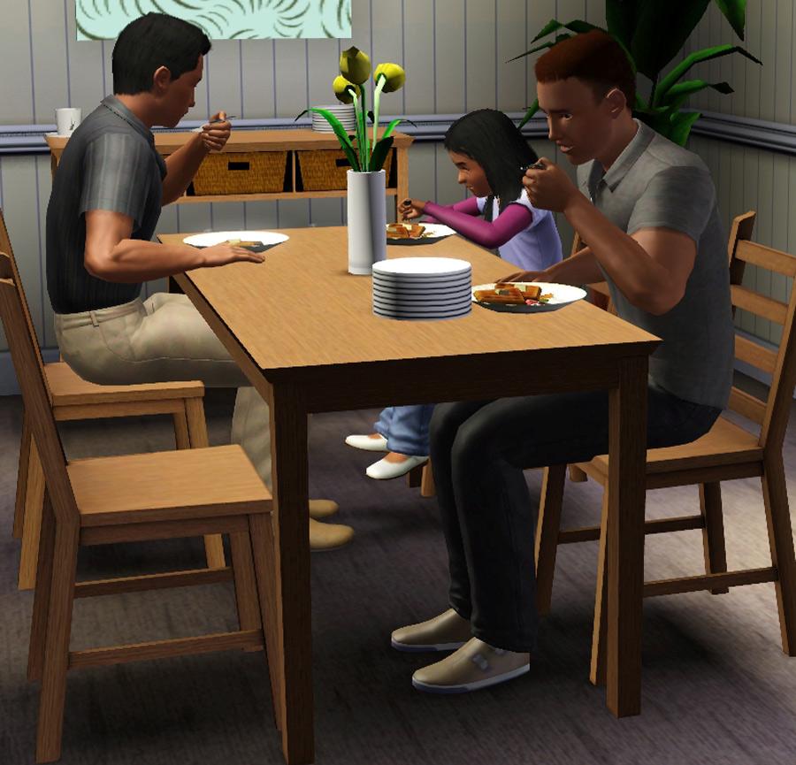 Ikea Esstisch Lyckhem ~ Mod The Sims  Lyckhemkaustby Dining Set