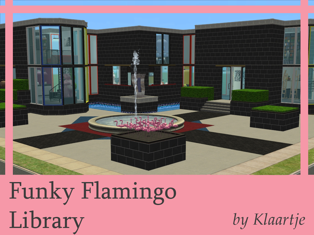 Mod the sims funky flamingo library for Funky house classics