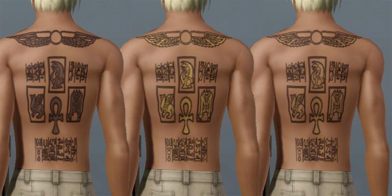 Mod The Sims - Marik Ishtar's Tombkeeper Tattoo from YuGiOh